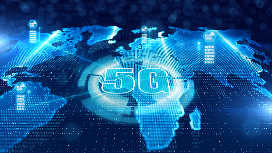 istock HUD, 5G connectivity of digital data and conceptual futuristic information of internet of things IOT big data using artificial intelligence AI, Technology background concepts 1177833832