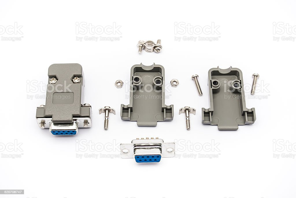 RS-232 Connector Assembly stock photo