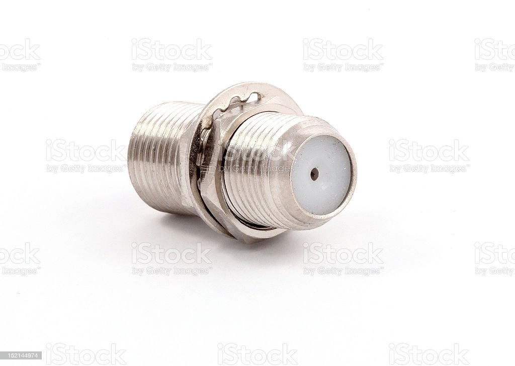 Connector for TV cable royalty-free stock photo