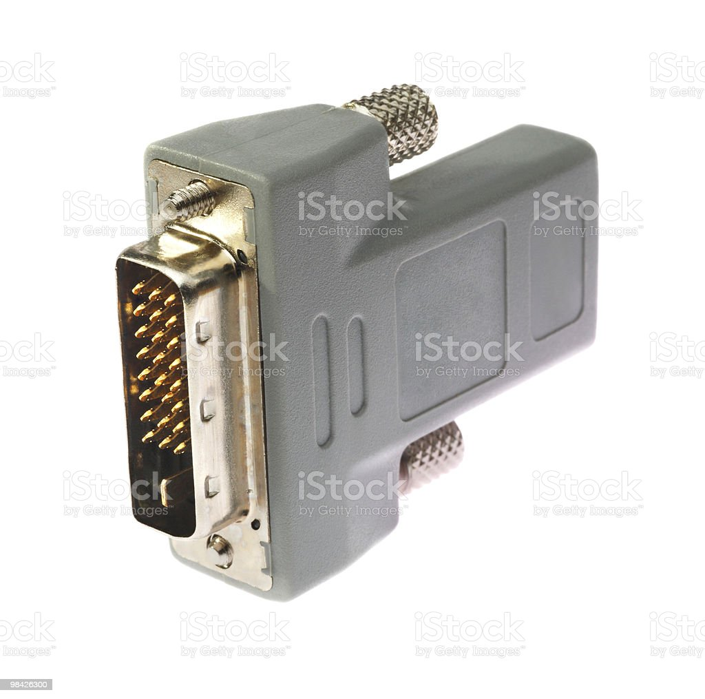 Del connettore HDMI-DVI isolato foto stock royalty-free