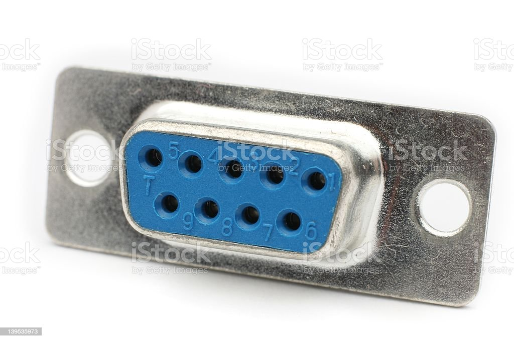 DB9 Connector stock photo