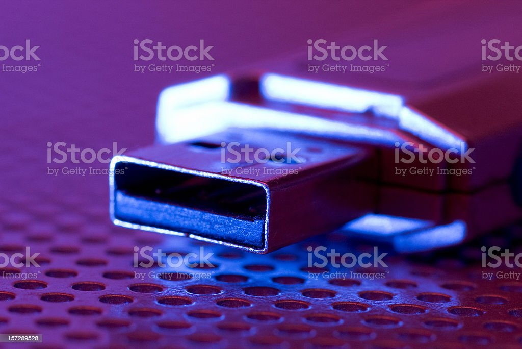 USB connector stock photo