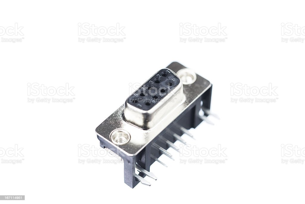 DB9 Connector royalty-free stock photo