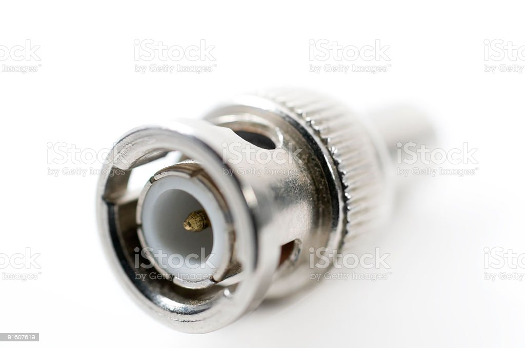 BNC connector royalty-free stock photo