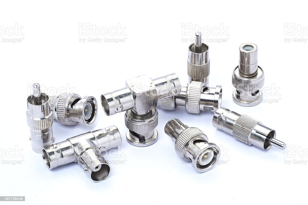 BNC connectors stock photo