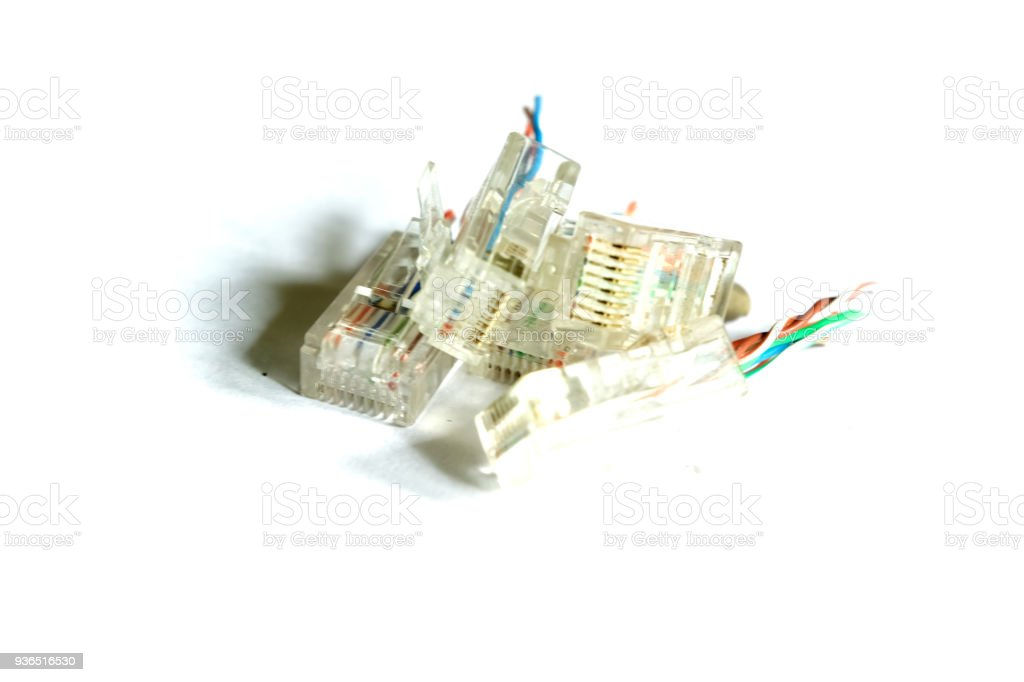 RJ-45 connectors stock photo