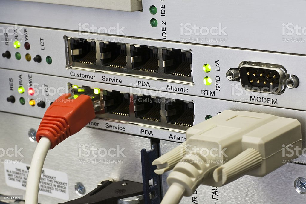 RJ45 connectors royalty-free stock photo