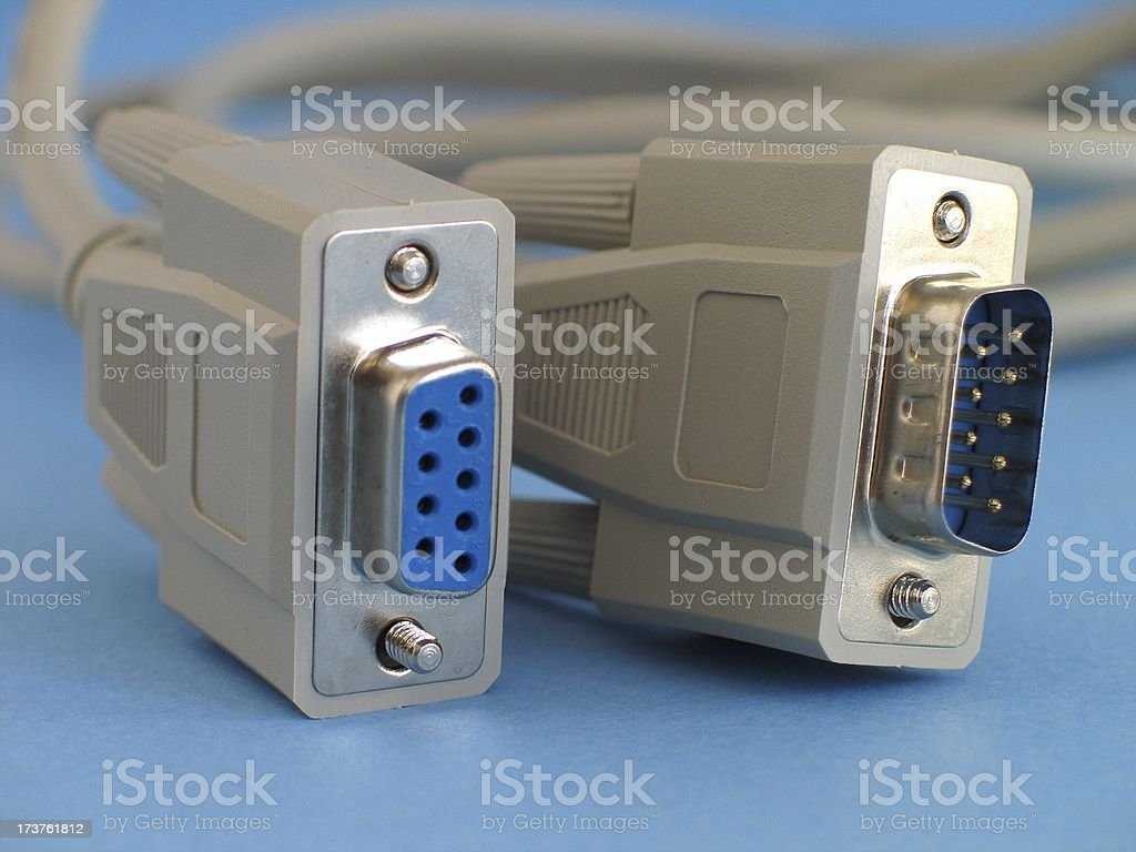 Connectors RS-232 stock photo