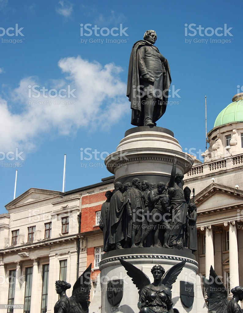 O'Connel Statue stock photo
