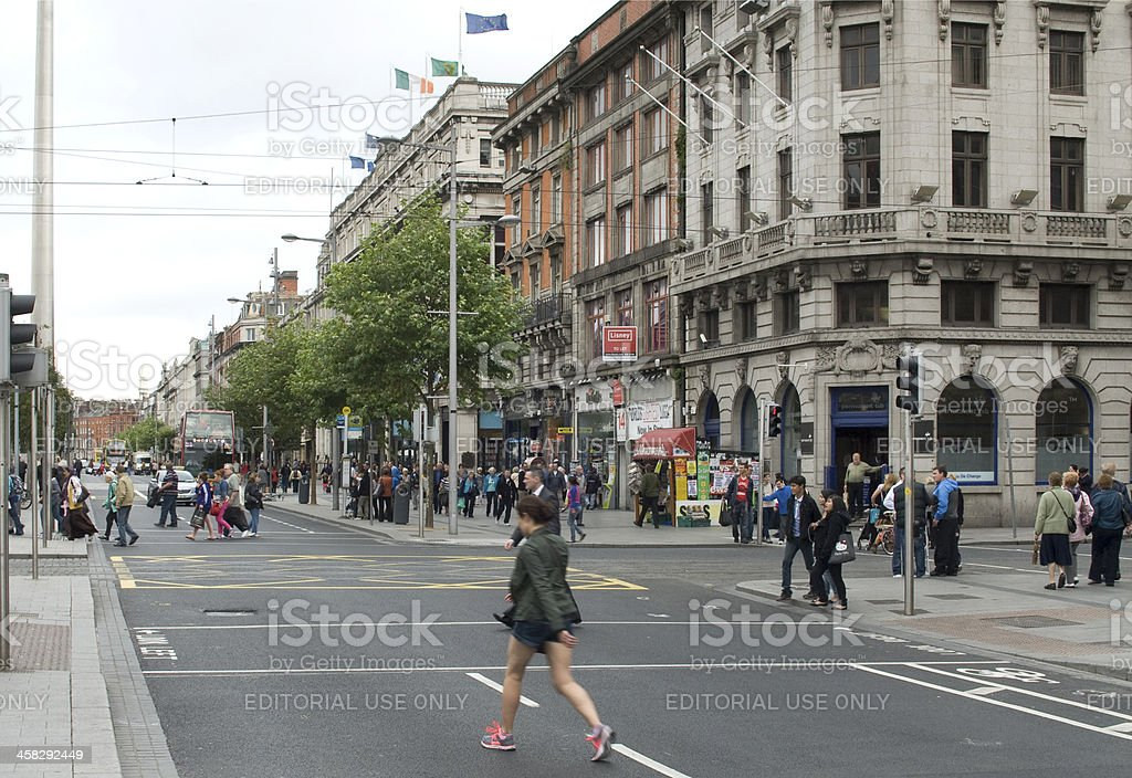 O'Connell Street Dublin City stock photo