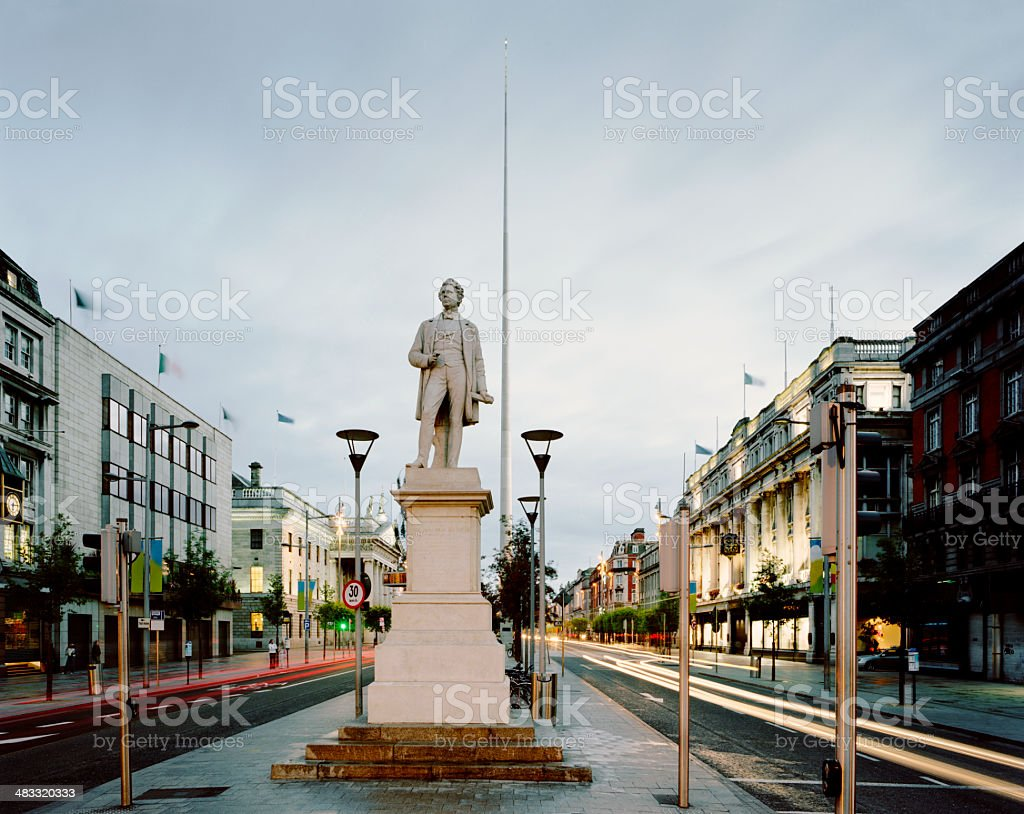 O'Connell Street, Dublin stock photo