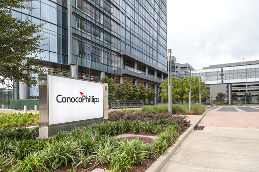 Conocophillips Company Headquarters In Houston Us Stock Photo - Download Image Now