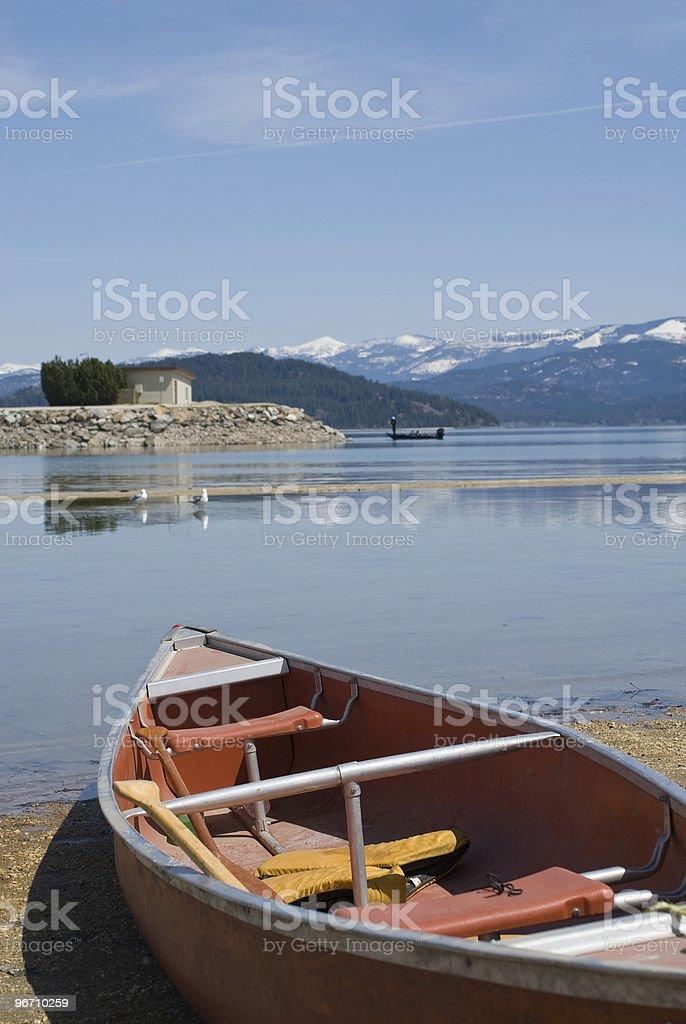 Conoe on Lake stock photo