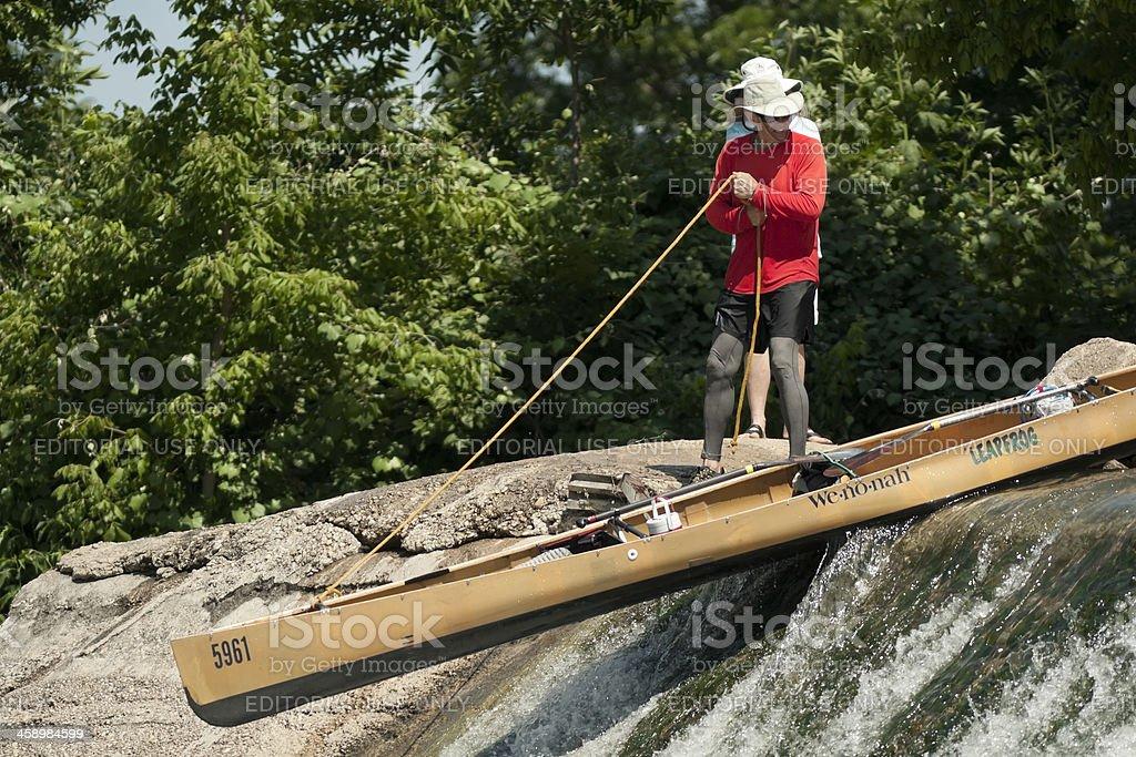 Conoe on the Dam stock photo