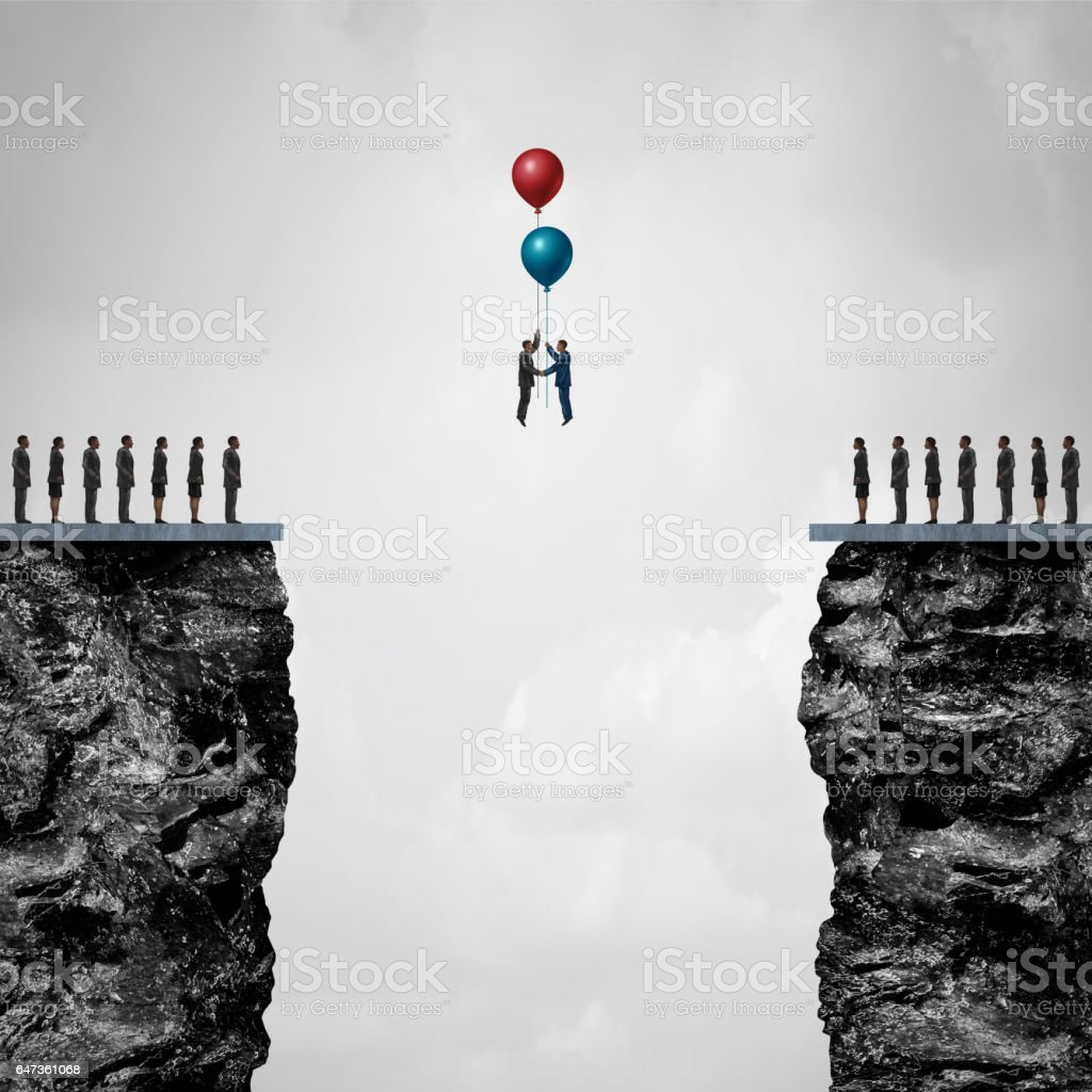 Conquering Adversity stock photo