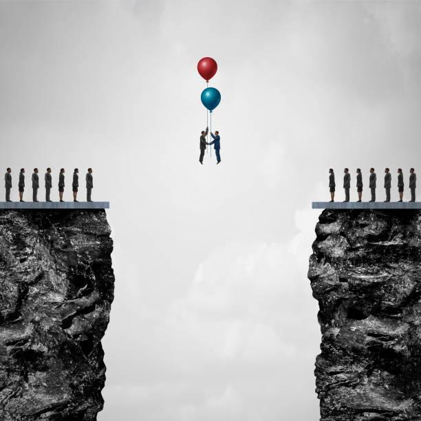 Conquering Adversity stock photo
