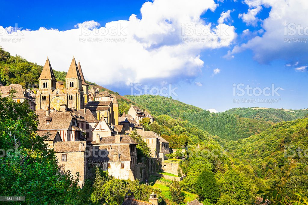 Conques, France stock photo