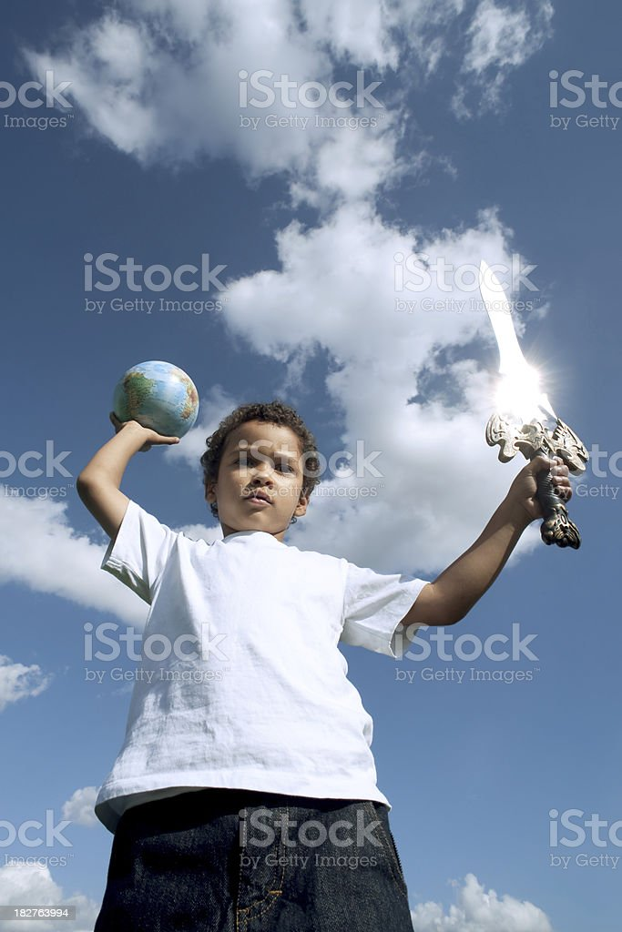 conquest of the world royalty-free stock photo