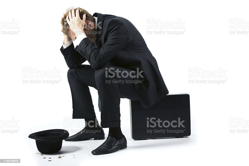 Consequences of crisis royalty-free stock photo