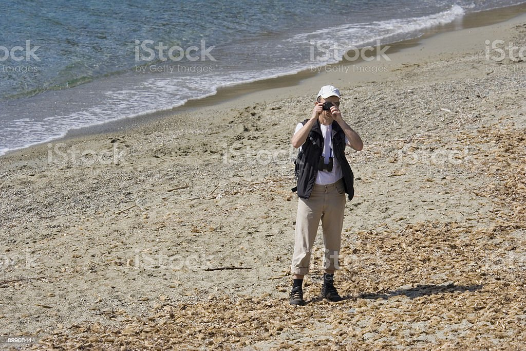 conservationist taking a photo royalty-free stock photo