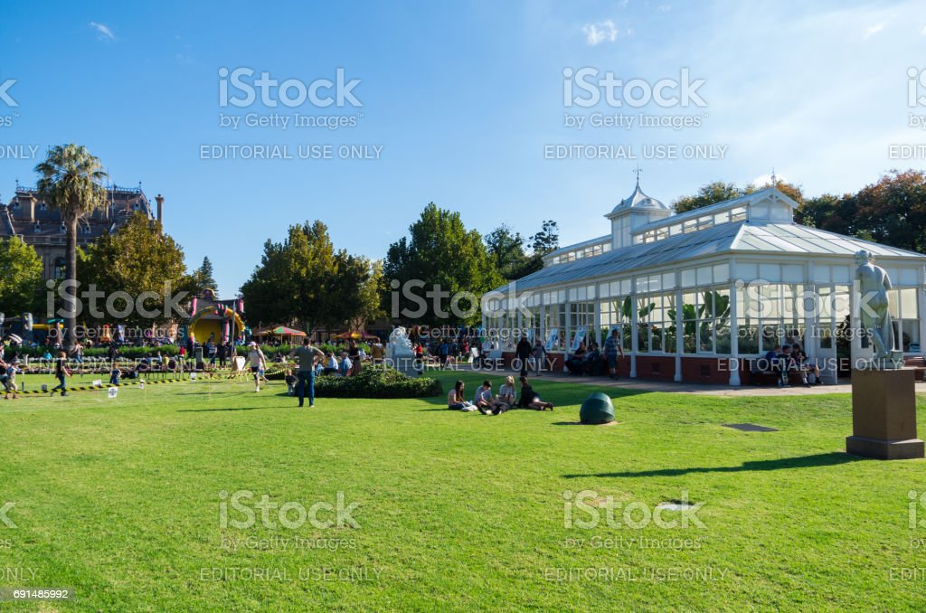 Conservatory Gardens in Bendigo, Australia stock photo