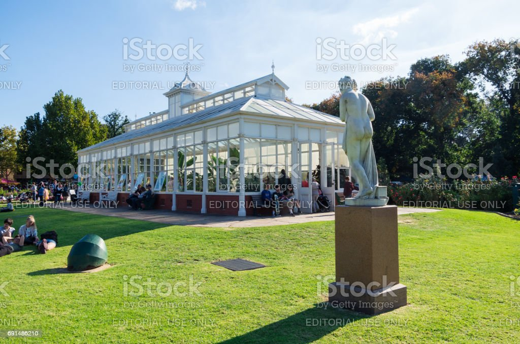 Conservatory Gardens in Bendigo, Australia stock photo