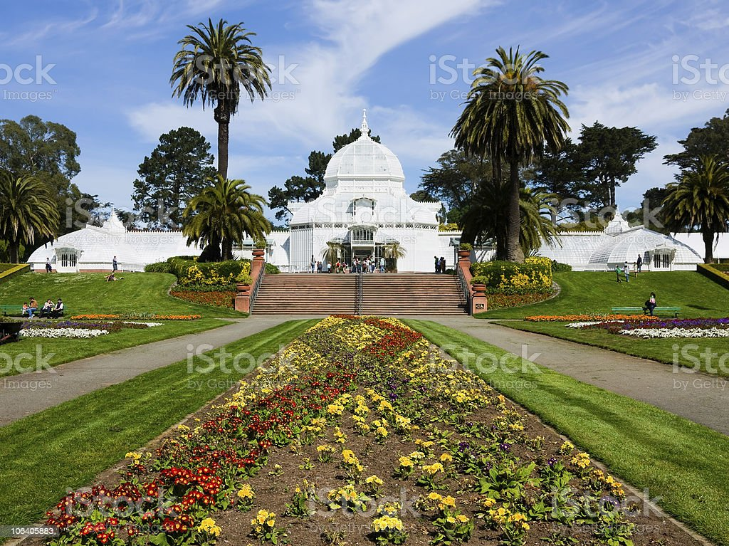 Conservatory of Flowers stock photo