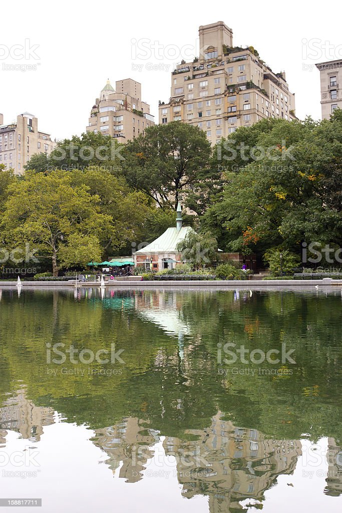 Conservatory Water, Central Park, New York stock photo