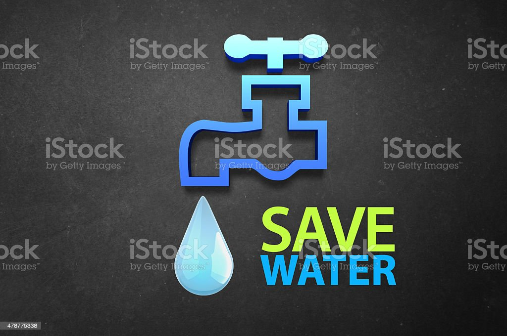 Conserve Water stock photo
