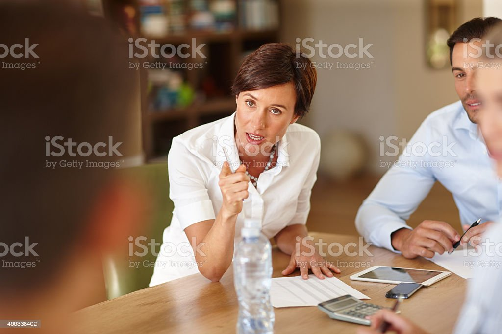 Consider this your final warning stock photo