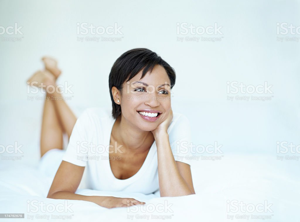Considering a future filled with possibilities royalty-free stock photo