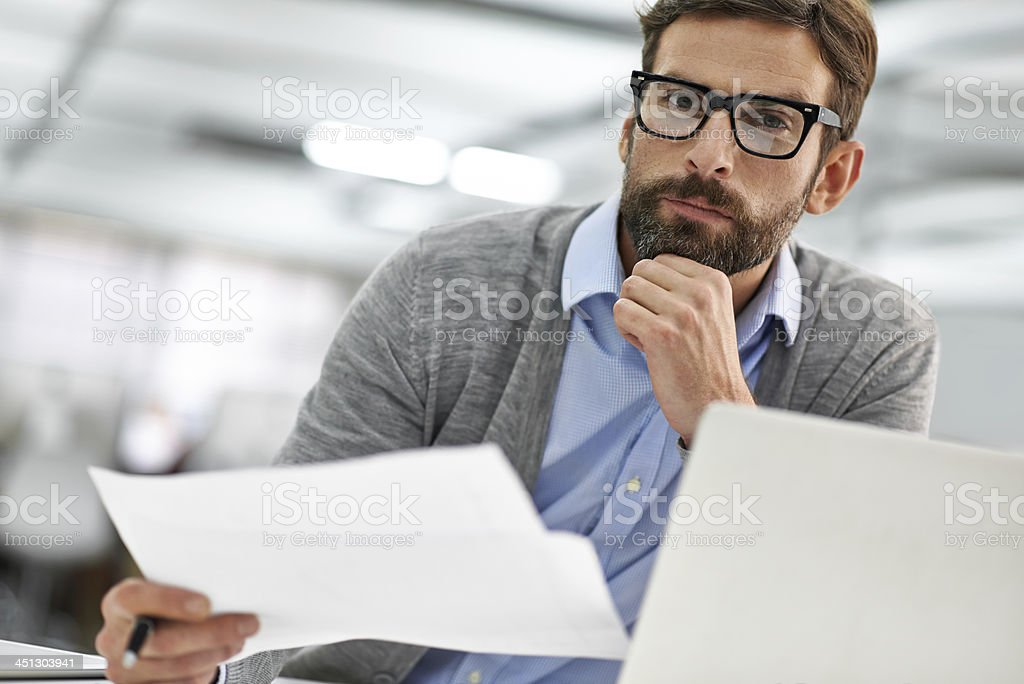 Considering all the options... royalty-free stock photo