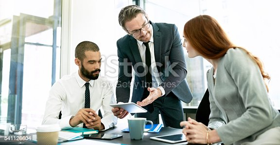istock Considering new business possibilities as a team 541126604