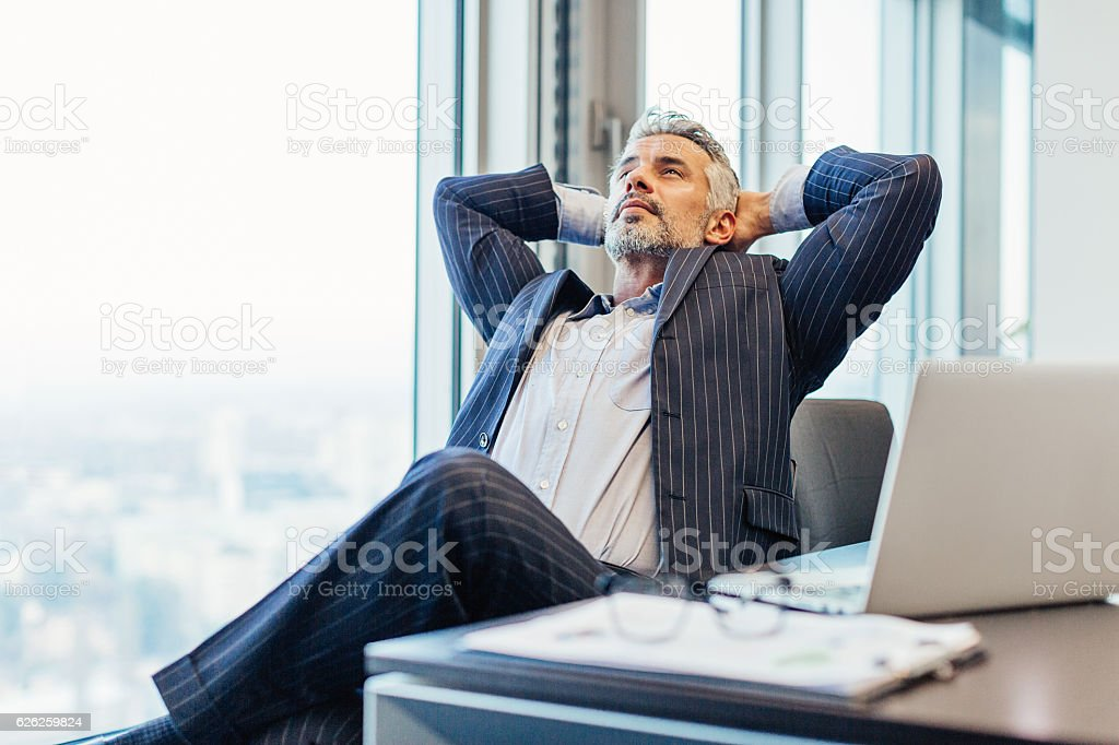 Considering the options stock photo