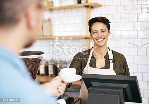 597640822 istock photo Consistently high quality coffee keeps him coming back 841180152