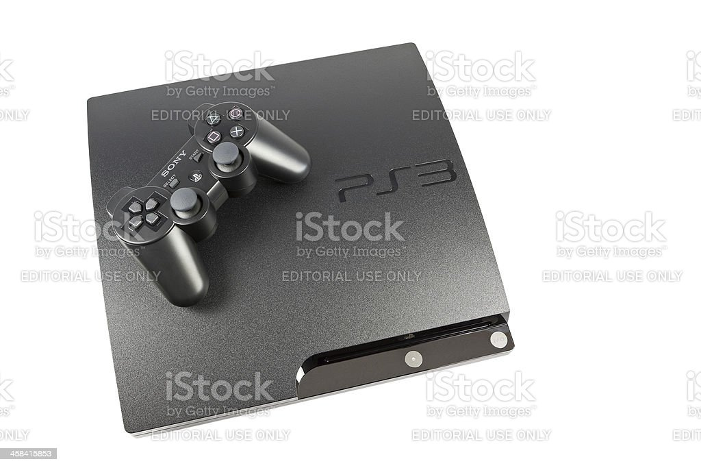 PS3 Console & Controller royalty-free stock photo