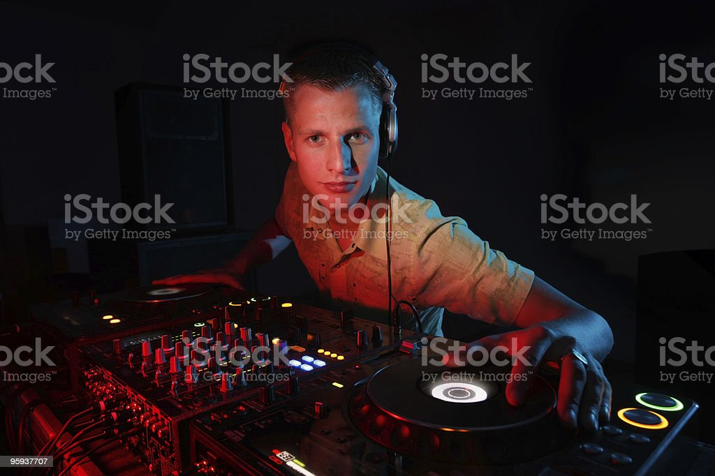 DJ console royalty-free stock photo