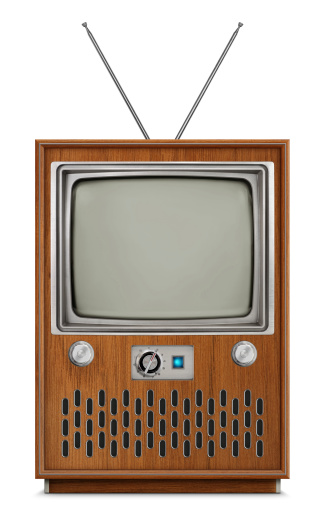 Console Television Blank Screen Stock Photo - Download Image Now