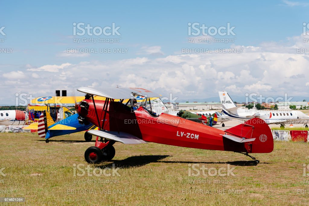 Consolidated Fleet airplane during Air Show stock photo