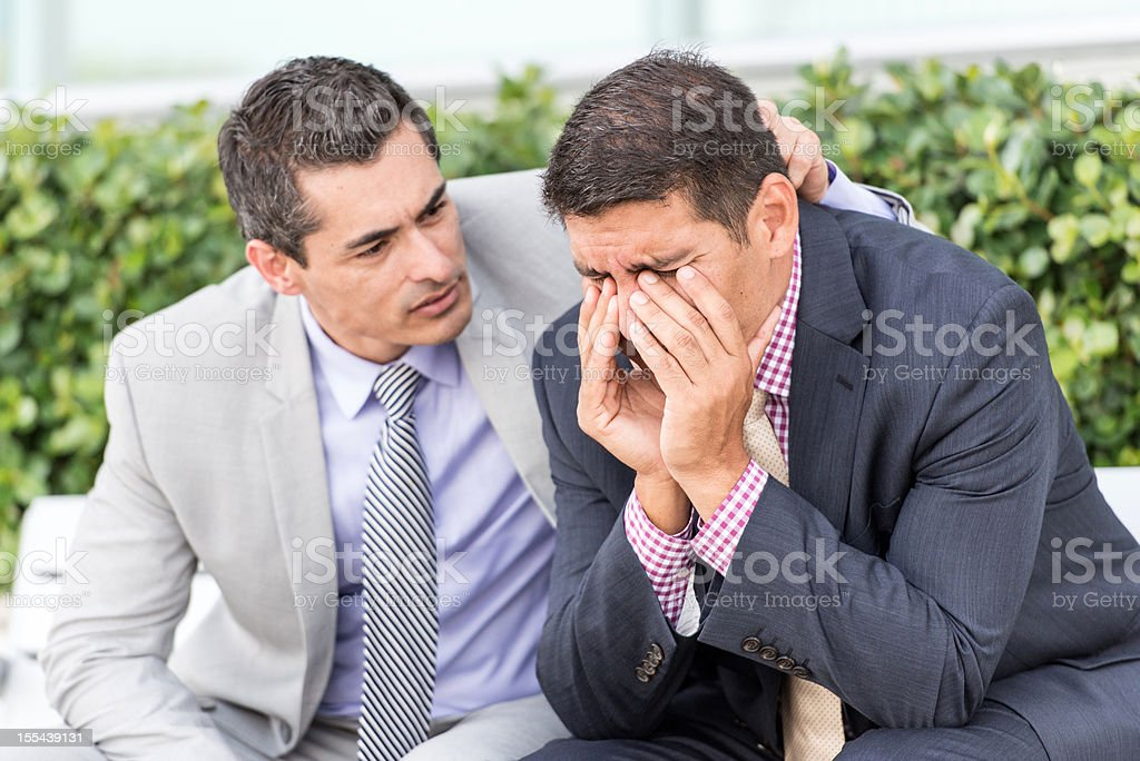 Consoling friend royalty-free stock photo