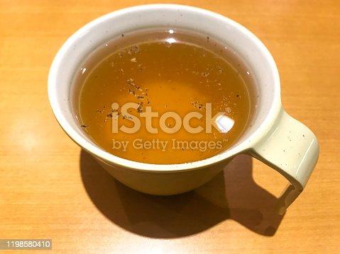 Refill free soup served at Italian restaurant in Yokohama