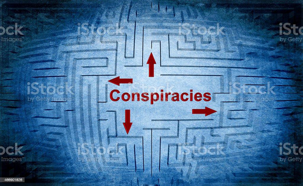 Conspiracies maze concept stock photo
