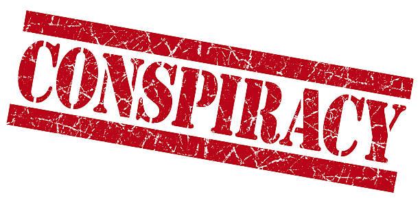 sello rojo grunge de la conspiración - conspiración fotografías e imágenes de stock