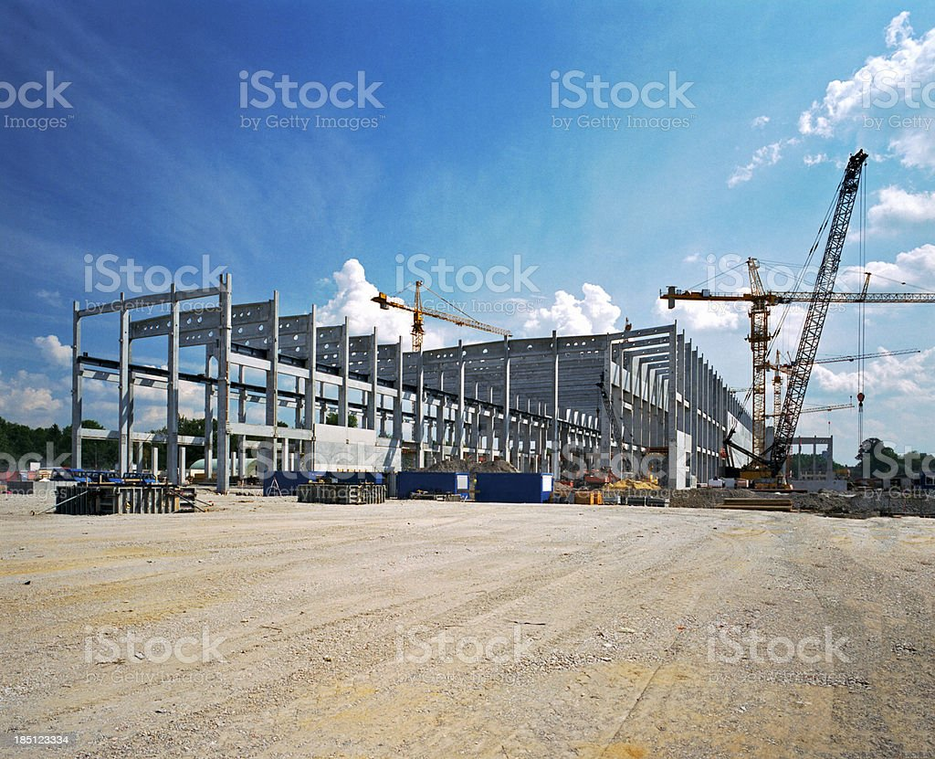 Consrtuction Site Factory under construction Civil Engineering Stock Photo