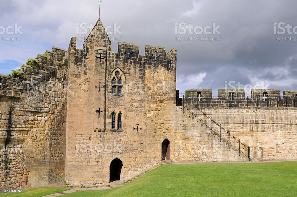 Constable's Tower, Alnwick Castle stock photo