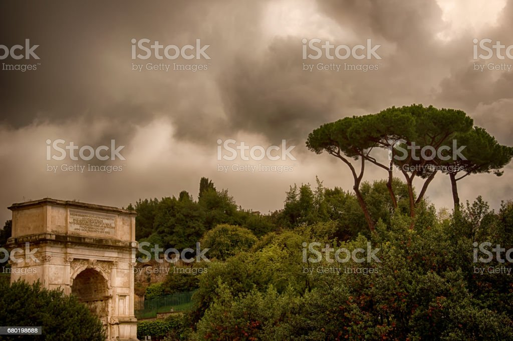 Constantin Arch in Rome stock photo