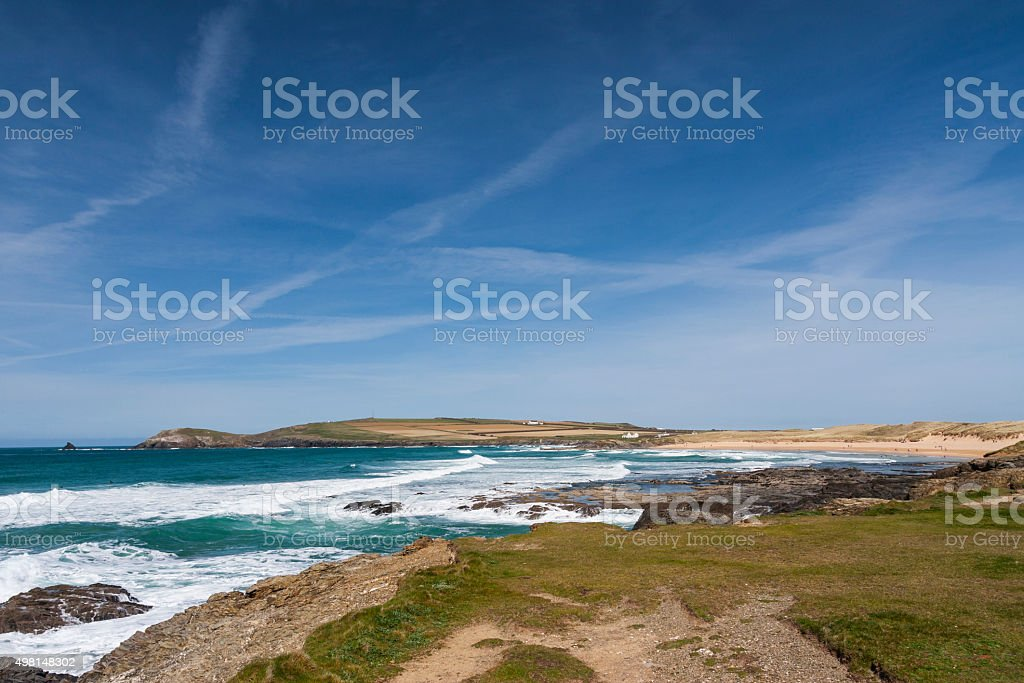 Constantine Bay near Padstow in Cornwall stock photo