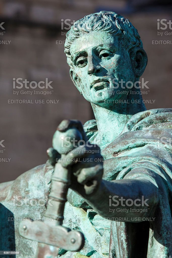 Constantine Statue in York stock photo