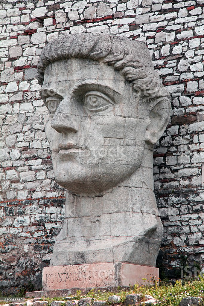 Constantine the Great, Founder of Berat stock photo