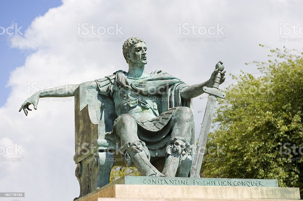 Constantine the Great stock photo